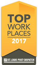 Proud to be named a St. Louis Post Dispatch Top Workplace for 6 consecutive years!